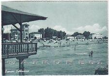 UDINE LIGNANO SABBIADORO 16 SPIAGGIA BAGNI Cartolina viaggiata 1951