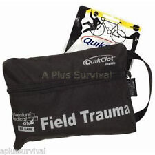 Quik Clot Pro Field Trauma Tactical Pack Blood Stopper First Aid Survival Kit