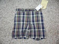 Canterbury of New Zealand Boys Plaid Short Size 4 Multi Color NWT $34