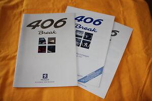 Peugeot 406 Break 1999 Prospekt + Preisliste Farben Brochure Catalogue Depliant