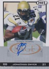 Jonathan Dwyer 2010 Sage Hit Rookie Silver Auto graph Signature RC Steelers