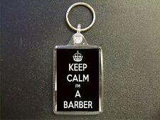 KEEP CALM I'M A BARBER KEYRING GIFT BAG TAG BIRTHDAY GIFT