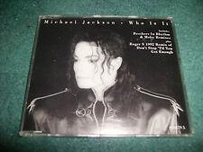 MICHAEL JACKSON WHO IS IT CD SINGLE REMIXES RARE