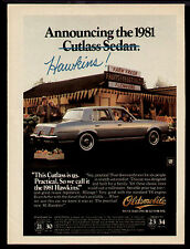 1981 ANNOUNCING THE OLDSMOBILE CUTLASS SEDAN AD