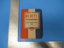 Vintage 1945-46 On Duty For God And Country Uniform Bible Lessons  S1155