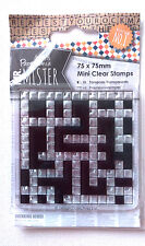 MR MISTER CROSSWORD RUBBER STAMP Docrafts 75 x 75mm CRAFTS PUZZLES CARD Template