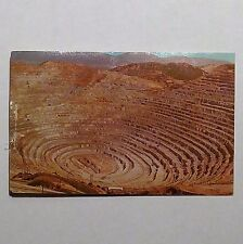 Printed Photo Postcard Kennecott's Copper Mine in Bingham Canyon, Utah 1976 Nr