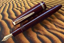 AXO 501, Danish fountain Pen Burgundy, Fully Restored, Big Ben Nib