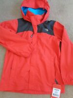 The North Face boys Resolve Reflct hooded jacket coat Age 10-12 years NEW+TAGS