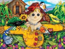 Jigsaw Puzzle Farm Life Scarecrow and Blackbird 500 pieces NEW made in USA