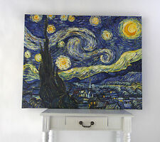 """Stretched Handmade oil painting reproduction The Starry Night by Van Gogh 24x32"""""""