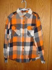 Boy's FADED GLORY Flannel Plaid Long Sleeve Shirt L 10 12 FC513