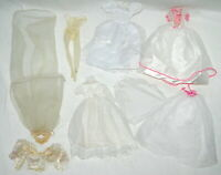 Doll Clothes Lot for Barbie and Fashion Dolls Wedding Fancy Dresses Veils Lace