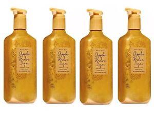 Bath Body Works APPLES & BROWN SUGAR 8oz Creamy Luxe Hand Soap x 4
