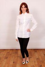 Pinko white gold fringe beaded shoulder boards fitted shirt  - Designer shirt