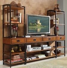 Modern Entertainment Center Organize Books Dvd S Open Shelves Tv Stand Decor