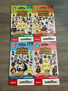 NEW Animal Crossing Amiibo Card Pack Series 1, 2, 3, 4 (4 packs of 6 cards = 24)