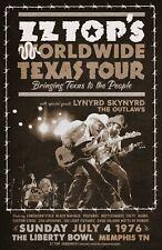 ZZ Top 1976 Tour Poster