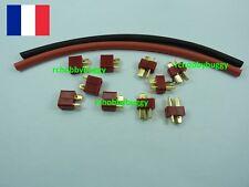 5 Paires Prises Dean T Plug OR + Gaines thermo,connecteur dean t