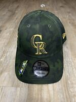 COLORADO ROCKIES NEW ERA 9Forty ARMED FORCES DAY HAT / CAMO ADJUSTABLE