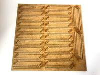 LASER CUT CRANK TOP FENCE POSTS MDF FOR 1:50 SCALE DIECAST DIORAMAS LX193-50