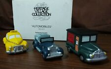 Dept 56 Christmas In The City Accessory 1987 Automobiles 3 Piece 59641 Retired