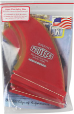 Proteck Super Flex Futures SUP Quad Set 4.5 Red/Yellow Surfboard Fin Set