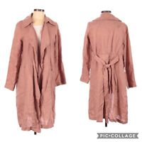 Cynthia Rowley Mauve Pink Linen Duster Jacket Size Small