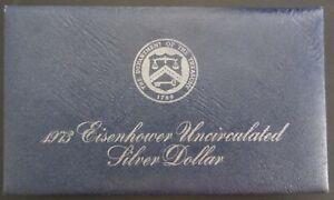 1973s Eisenhower Uncirculated Dollar - Blue Envelope