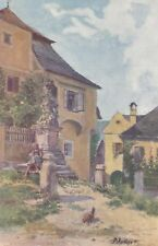 3848 Motiv aus Rossatz - Künstler-AK -  Bezirk Krems Land