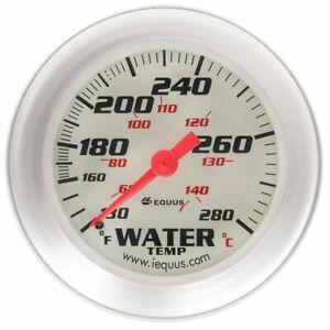 """Equus Coolant Temperature 2-5/8"""" Gauge 8000 Series Water Temp 130-280 F (8442)"""