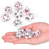 7 x Bloody Polyhedral Dice Set For Dungeons And Dragons DND MTG RPG Game AU