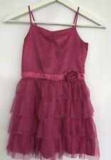 H&M Kids Girls Dress Age 7 EU 128  Pink Sleeveless TuTu Layered Wedding Party