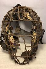 Antique Vintage 1920's Spalding Catchers Mask For Parts Or Restoration