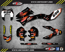 KTM Enduro 690 R 2012 - 2015 Full Custom Graphic Kit BARBED STYLE decals