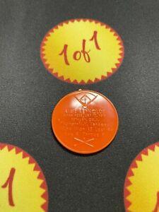 1960 Armour Hot Dog Coin Allie Reynolds Orange New York Yankees GF21
