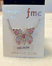 Sterling Silver BUTTERFLY/Cubic Zirconia/New