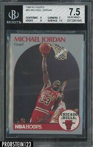 1990-91 Hoops #65 Michael Jordan Chicago Bulls HOF BGS 7.5 w/ 9