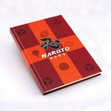 New Naruto Black Leaf Konoha Cosplay Notebook Diary book Stationery 144 x 207mm