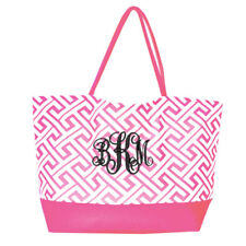 MONOGRAM GREEK KEY DESIGN SHOPPING BAG