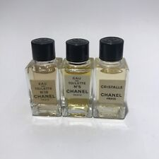 Chanel No5, No19, Cristalle EDT miniature parfum 3*4ml