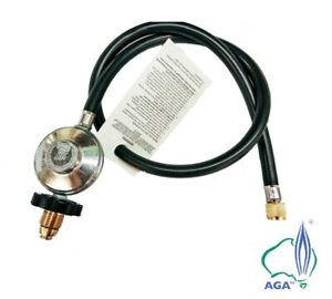"NEW BBQ Hose & Regulator 1/4"" MALE 1500MM - LPG GAS AGA Approved"