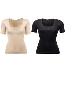 Ladies Plain Half Sleeve Lace Design  Vest Tops Camisole Tank Top Cami