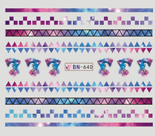 Nail Art Stickers Water Decals Transfers Unicorn Pattern (DB640)