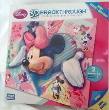 "New Disney Minnie Mouse Mega Breakthrough 3D 250 Pc Puzzle 18"" x 24"" NIB"