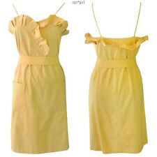 NWT Authentic Chloe SPRING RUNWAY Mustard Yellow Vintage Style Ruffle Dress 6 40
