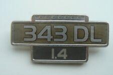 VOLVO 343 DL 1.4 sigle embleme logo insigne monogramme de carrosserie aluminium
