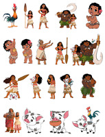 PRECUT MOANA BIRTHDAY EDIBLE STAND UP CAKE TOPPERS DECORATION PREMIUM WAFER CARD