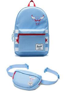 Herschel CHICAGO BULLS City Edition Settlement Backpack & HIP PACK SKY Blue RED
