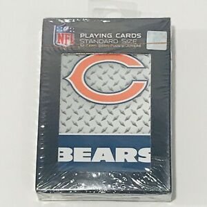 NEW Chicago Bears Logo NFL Football Playing Cards 52 Card Deck Poker Mens Gift